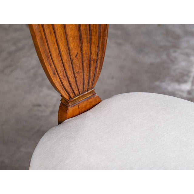 Walnut Antique 1890s Italian Empire Walnut Neoclassical Chairs - a Pair For Sale - Image 7 of 13