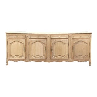 19th Century Grand Country French Stripped Oak Buffet For Sale