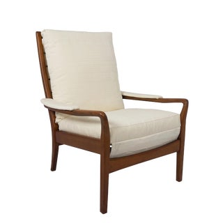 Mid Century Cintique British Lounge Chair With Scalamandre Fabric For Sale