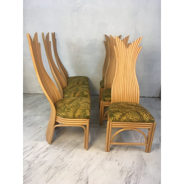 Rattan Dining Chairs, Set of Six For Sale In Charleston - Image 6 of 10