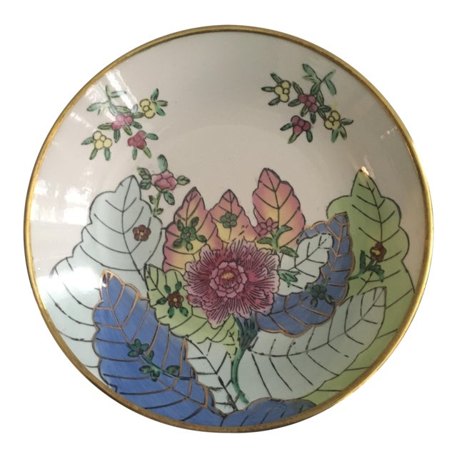 Vintage Chinese Tobacco Leaf Pattern Decorative Bowl For Sale