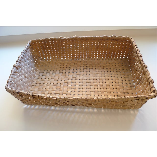 Beautiful large scale garden basket from Virginia, dating to the early 20th century. Possibly used in tobacco picking....