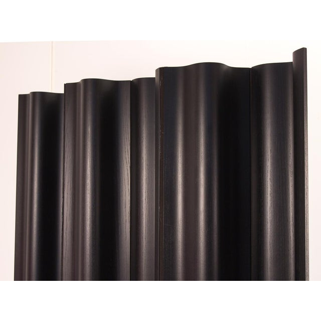 Ash Eames Ebonized Folding Wood Screen Fws-6 For Sale - Image 7 of 10