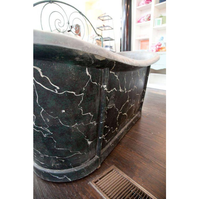 French Zinc Tub For Sale In Savannah - Image 6 of 7