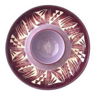 Vintage Southwestern Kanuho Purple Appetizer Platter For Sale