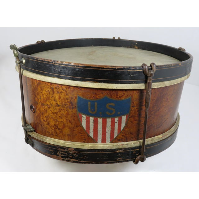 1900 - 1909 Early 20th Century Antique Parade Marching Snare Drum For Sale - Image 5 of 13