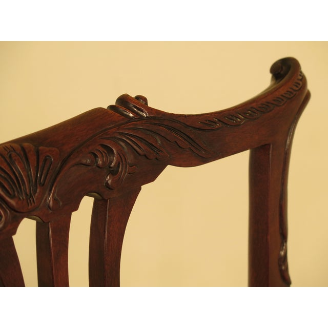1990s 1990s Vintage Baker Chippendale Mahogany Dining Room Chairs- Set of 6 For Sale - Image 5 of 13