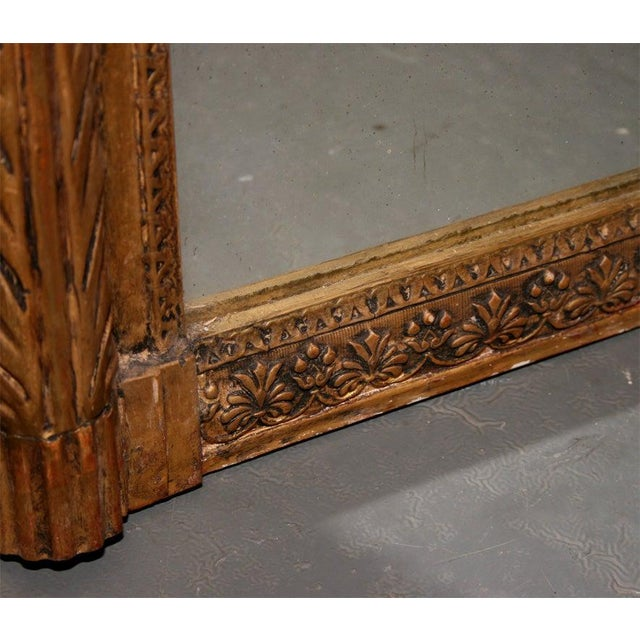 Giltwood Louis XVI Style Mirror For Sale In New York - Image 6 of 10