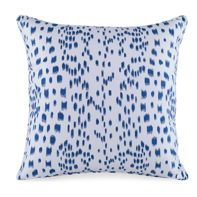 Contemporary Curated Kravet Les Touches Pillow - Blue For Sale - Image 3 of 3