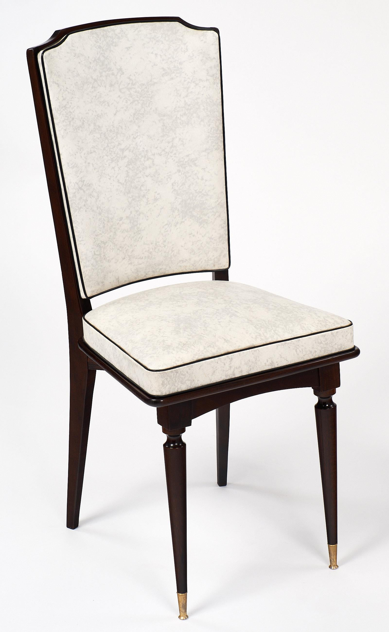 Vintage French Mahogany Dining Chairs   Image 4 Of 11