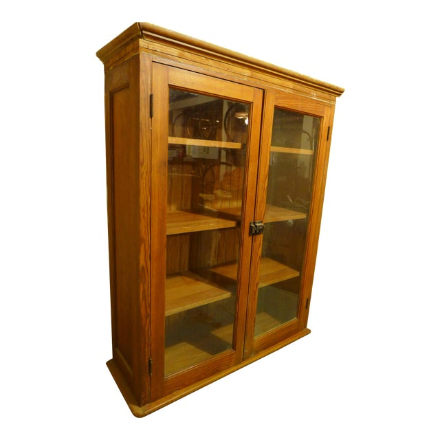 Antique Upper Kitchen Cabinet For Sale