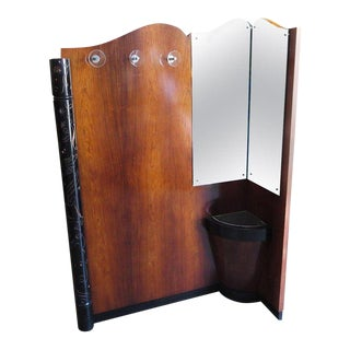 Art Deco Entry Hall Tree With Mirrors and Umbrella Stand For Sale