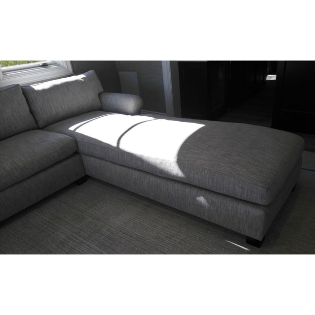 2020s Custom Made Sectional Sofa with Long Chaise Lounge For Sale - Image 5 of 10
