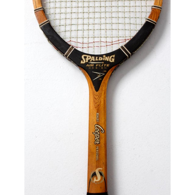 American Classical Vintage Spalding Tennis Racquet For Sale - Image 3 of 6