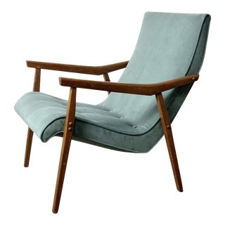 1950s Vintage Milo Baughman for Thayer Coggin Walnut Lounge Chair For Sale
