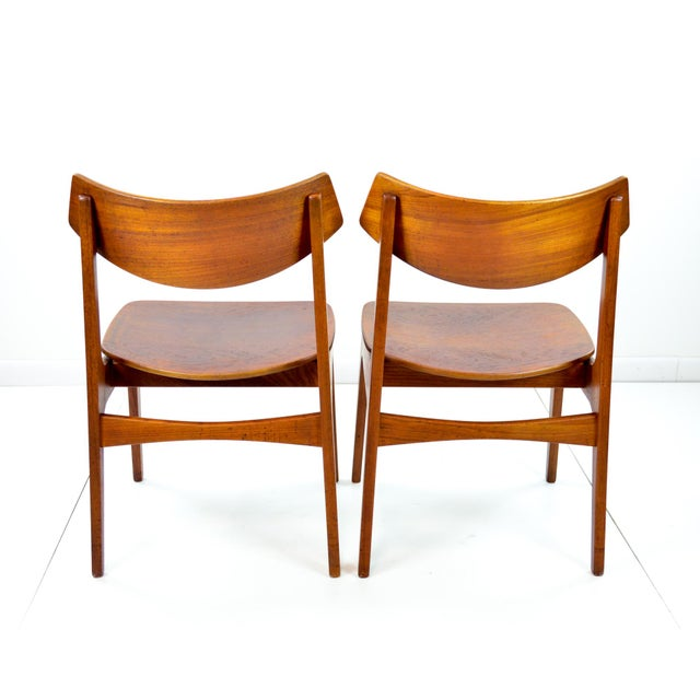 Erik Buck Vintage Danish Modern Teak Dining Chairs - Pair - Image 5 of 9