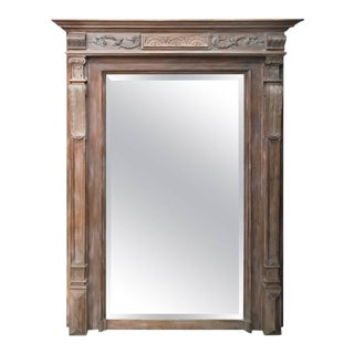 19th Century Neoclassical Style French Beveled Mirror For Sale