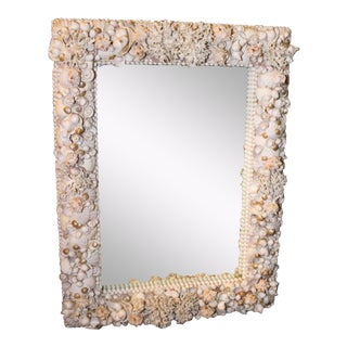 Exceptional Grotto Mirror, Great Attention Paid to Detail From a Promenate Florida Estate.