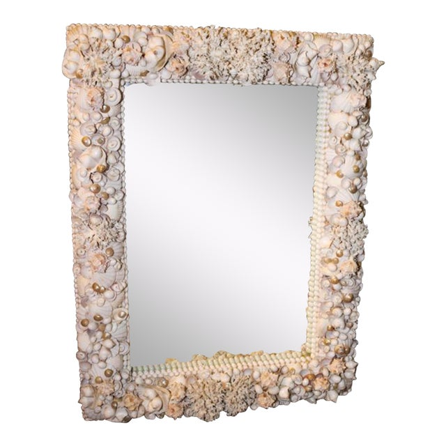 Exceptional Grotto Mirror, Great Attention Paid to Detail From a Promenate Florida Estate. For Sale