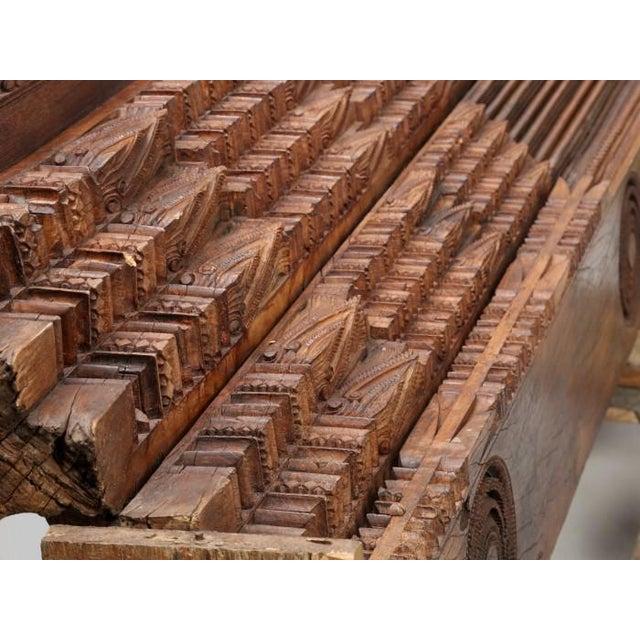 Antique Teak Carved Wood Door Frame For Sale In Chicago - Image 6 of 12