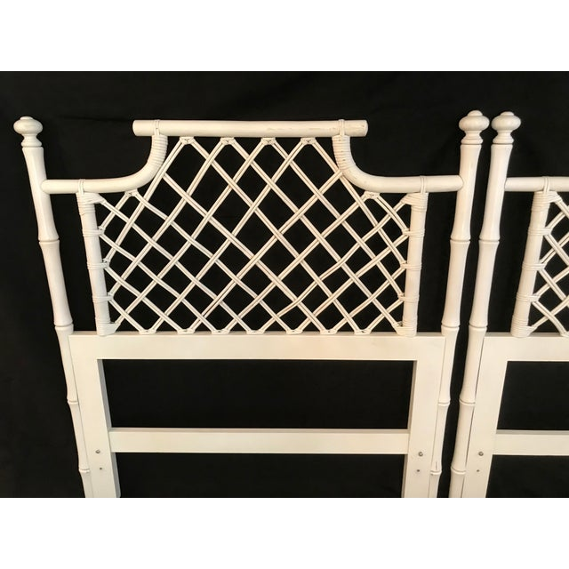 Ficks Reed 1970s Ficks Reed Twin or King Faux Bamboo Hollywood Regency Pagoda Headboards - a Pair For Sale - Image 4 of 13