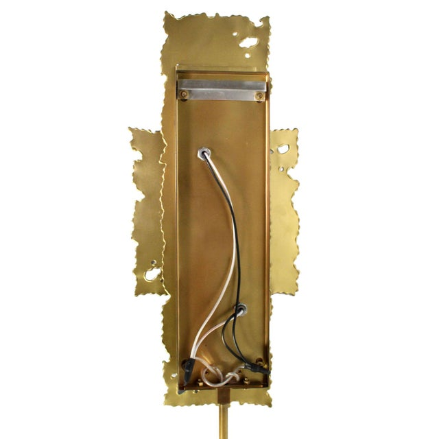 Brass Brutalist Torch Cut Sconces - a Pair For Sale In Los Angeles - Image 6 of 8