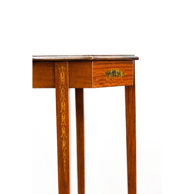 English 1890s Painted Satin Wood Stand For Sale - Image 3 of 6