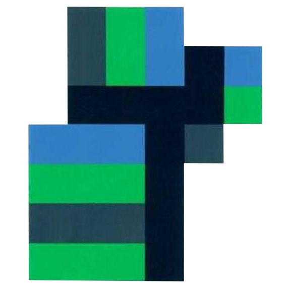 1997 Anton Stankowski Abstract Limited Edition Serigraph For Sale