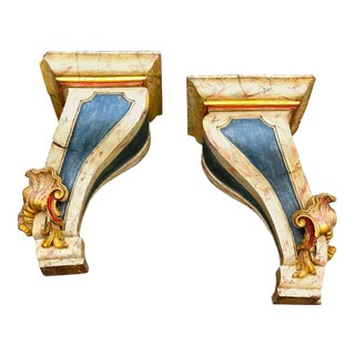 Portuguese Baroque Wall Brackets, Large Scale - A Pair For Sale