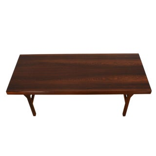 Danish Rosewood Coffee Table W/ Expanding Shelf For Sale