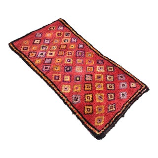 Small Vintage Red Turkish Rug For Sale