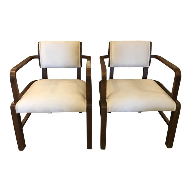 Pair of Mid Century Armchairs For Sale