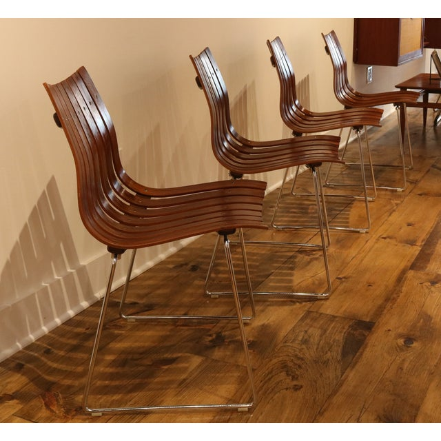 Skandia Rosewood Dining Chairs - Set of 4 - Image 6 of 10
