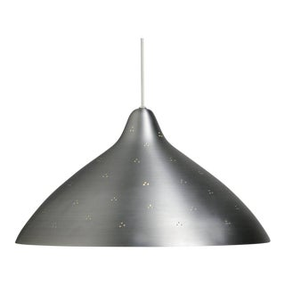 Lisa Johansson-Pape Large Silver Perforated Metal Pendant