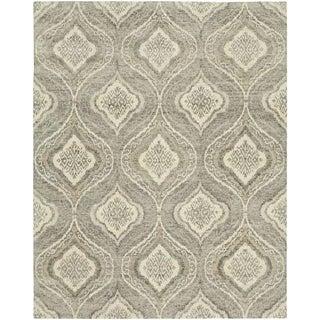 Modern Handmade Wool Carpet - 8′ × 10′ For Sale