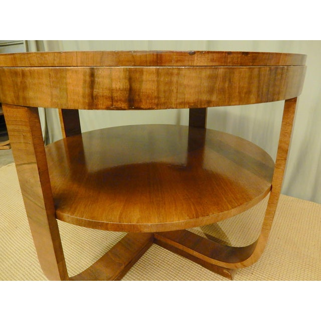 1930's Art Deco Round Table For Sale - Image 4 of 5