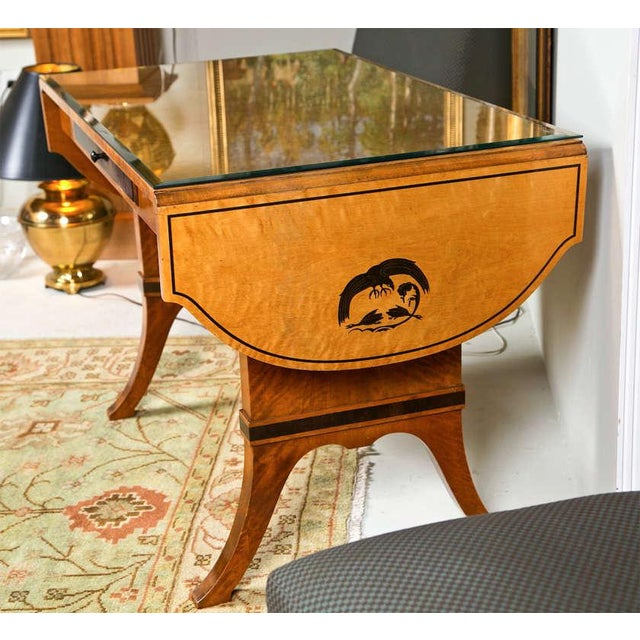 Art Nouveau Satinwood Sofa Table For Sale - Image 4 of 10