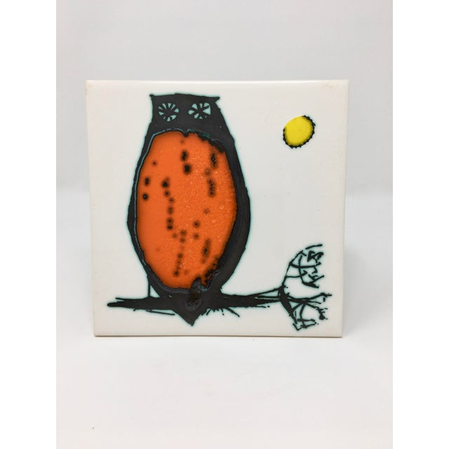 Modern Kenneth Clark Owl Ceramic Tile For Sale In Minneapolis - Image 6 of 7