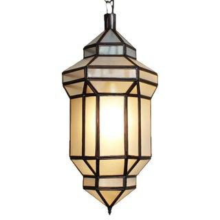 White Prism Lantern Small For Sale
