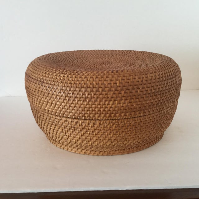 Basket and lid fit beautifully together to give the impression of one seamless piece. The spiral pattern of the basket...