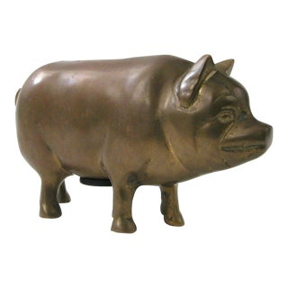Brass Pig Bank