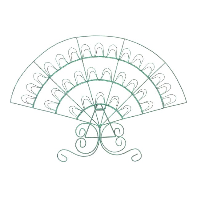 Verdigris Wire Fan Card Display - Image 1 of 5