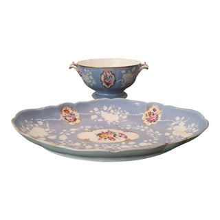 Early 19th Century English Staffordshire Pottery Dish & Bowl Set For Sale
