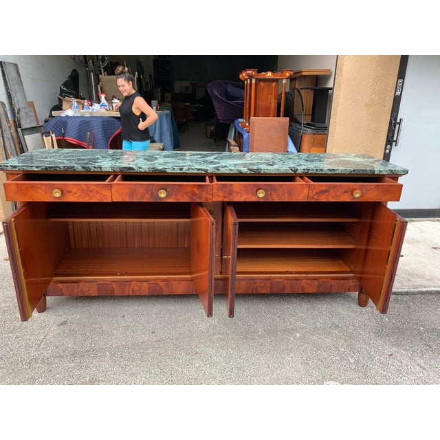 Brown 1900s French Empire Antique Sideboard For Sale - Image 8 of 13