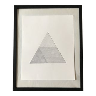 Hatched Triangle Hand Drawn Ink Illustration For Sale