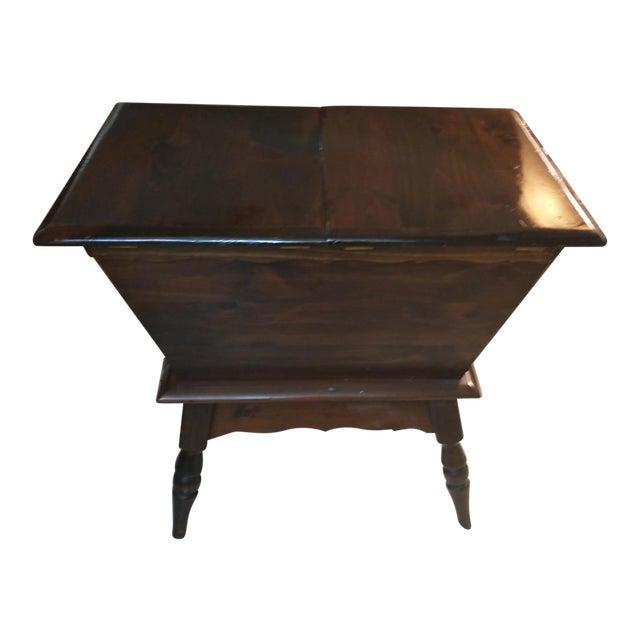 Vintage Sugar Pine Dough Trough End Table For Sale