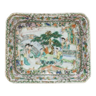 Antique Chinese Export Porcelain Famille Verte Bowl For Sale
