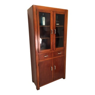 Prohibition Era Craftsman Style Bourbon Cabinet For Sale