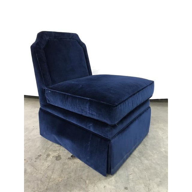 Highland House Highland House Luc Skirted Swivel Chair For Sale - Image 4 of 4