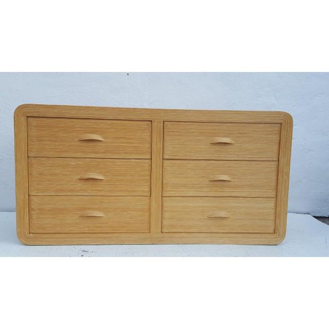 Gabriella Crespi Style Rattan Dresser. - Image 6 of 11